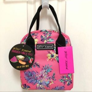 🌺 NWT Betsey Johnson Insulated Lunch Tote Flowers